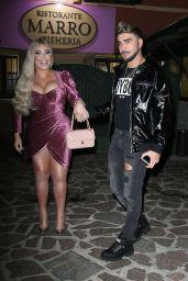 Jessica Alves and Boyfriend Giacomo Urtis at Marro Restaurant in Milan 10/13/2020