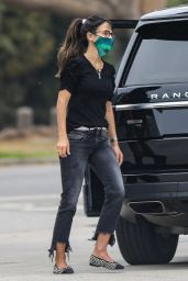 Jordana Brewster at a Gas Station in Brentwood 10/08/2020