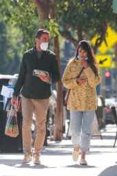 Jordana Brewster - Out in Brentwood 10/27/2020
