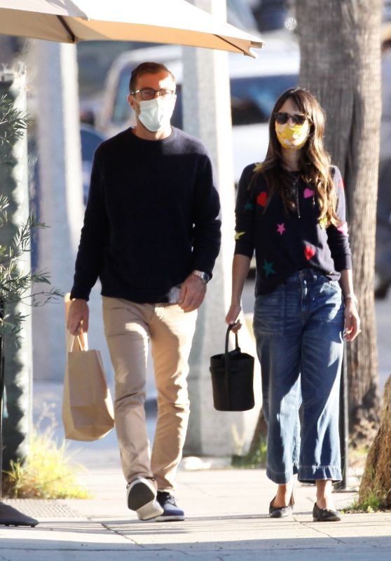 Jordana Brewster With Her Boyfriend in Santa Monica 10/30/2020