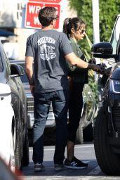 Jordana Brewster With Her Boyfriend in West Hollywood 10/28/2020
