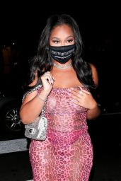 Jordyn Woods at Her Pretty Little Thing Launch in West Hollywood 10/15/2020