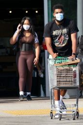 Jordyn Woods With New Boyfriend Karl-Anthony Towns - Calabasas 10/17/2020