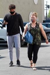 Justina Machado and Brandon Armstrong - Heads Into the DWTS Studio in LA 10/16/2020