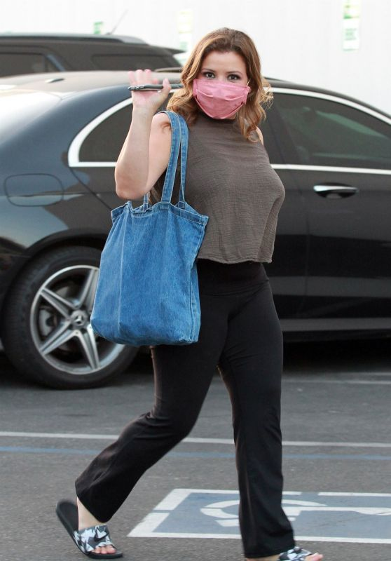 Justina Machado - Arriving for Practice at the DWTS Studio in LA 10/07/2020