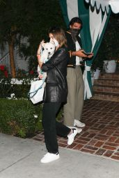Kaia Gerber and Jacob Elordi at the San Vicente Bungalows in West Hollywood 10/14/2020