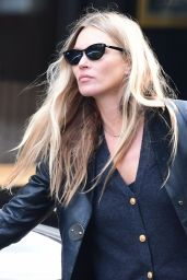 Kate Moss Street Style - Leaving a Hairdresser in Soho 10/01/2020
