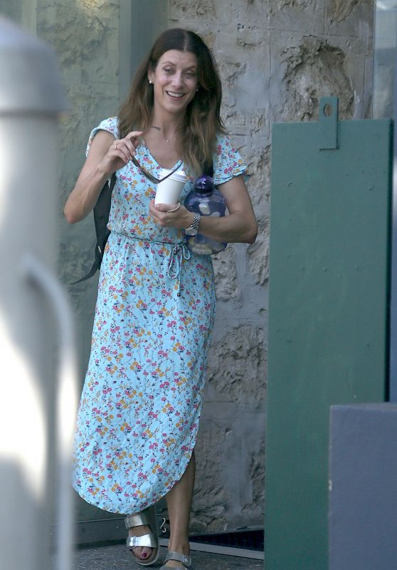 Kate Walsh in a Floral Dress - Fremantle 10/25/2020