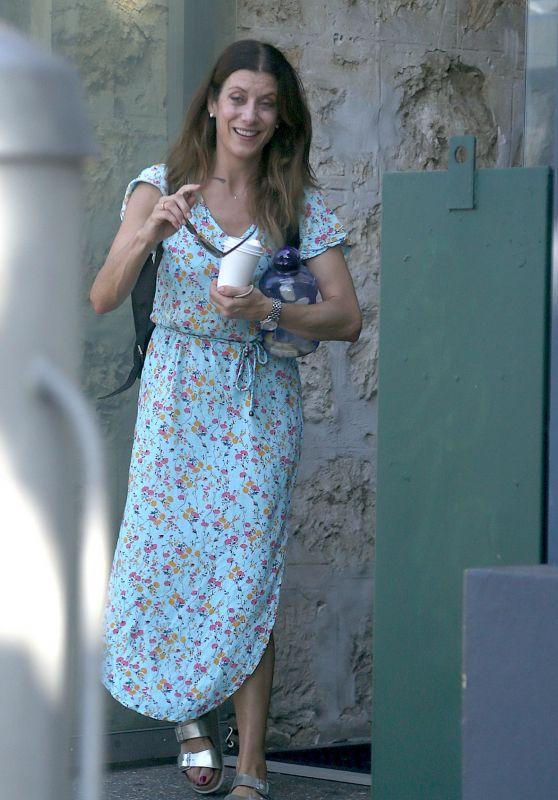 Kate Walsh in a Floral Dress - Fremantle 10/25/2020