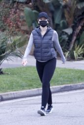 Katherine Schwarzenegger in Tights - Santa Monica 10/24/2020
