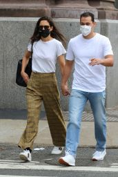 Katie Holmes and Emilio Vitolo Jr. - Riding the Downtown Subway Train in Manhattan 10/01/2020