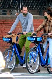 Katie Holmes - Riding Electric Citi Bike in the Lower Manhattan, NY 10/20/2020