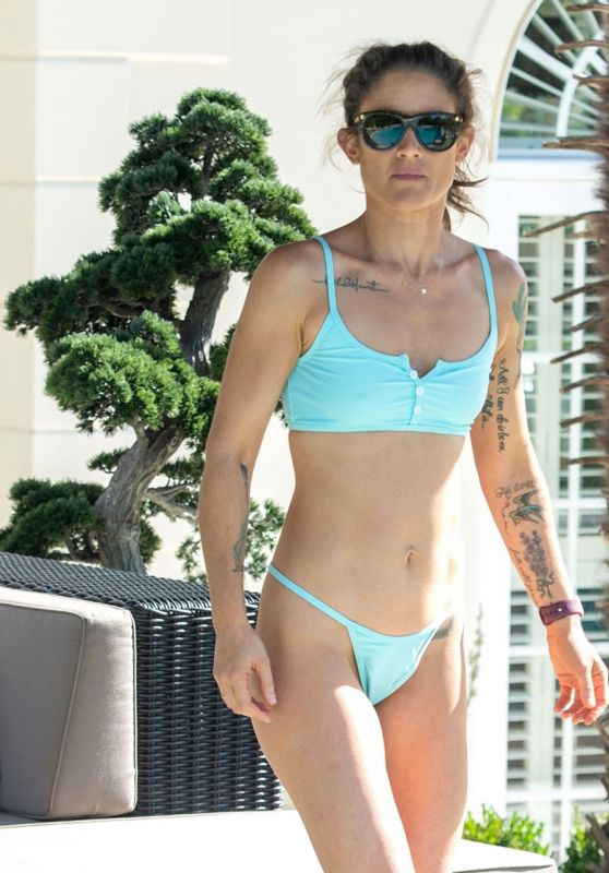 Katie Waissel in a Blue Bikini in Italy 10/09/2020