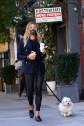 Kelly Bensimon Street Style - Out in NYC 10/14/2020