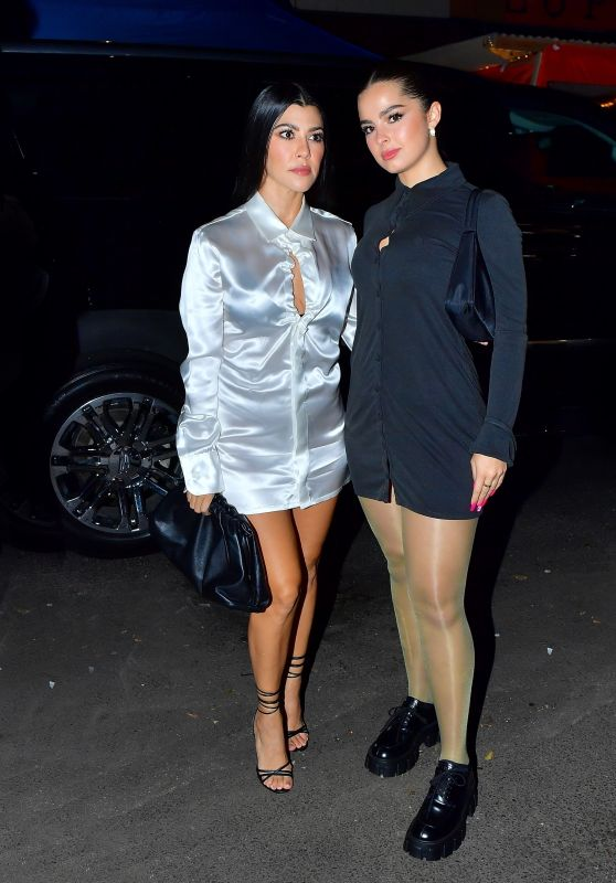 Kourtney Kardashian and Addison Rae - Out for Dinner in NYC 10/11/2020