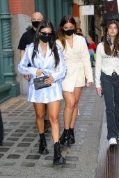Kourtney Kardashian and Addison Rae - Out in Downtown Manhattan, NY 10/10/2020