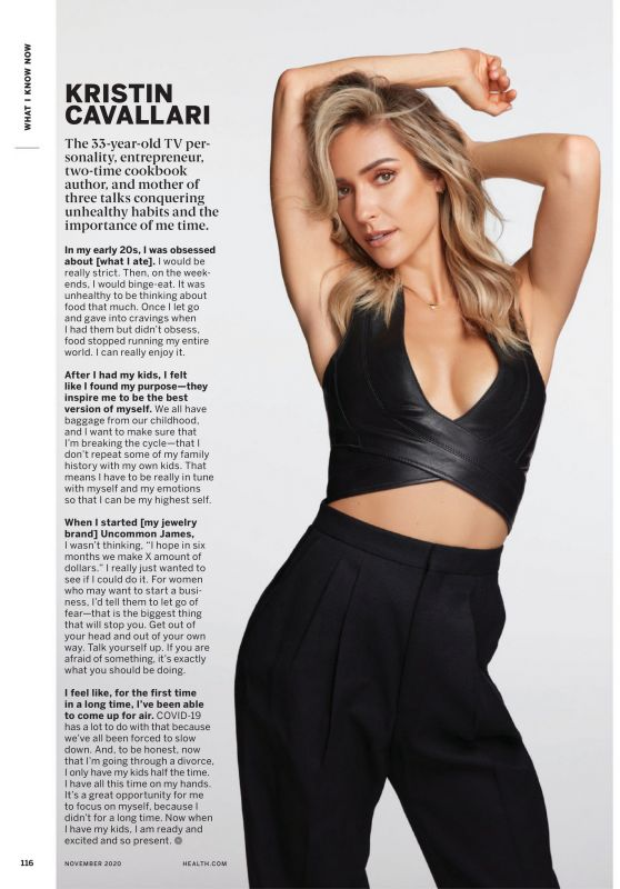 Kristin Cavallari - Health Magazine November 2020 Issue