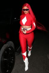 "Kylie Jenner Dresses as a ""Power Ranger"" for Halloween 10/30/2020"