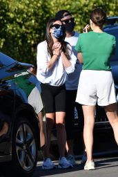 Lea Michele and Zandy Reich 10/30/2020