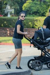 Lea Michele - Out For a Walk in Brentwood 10/09/2020