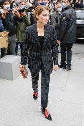 Lea Seydoux - Arrives at the Louis Vuitton Fashion Show in Paris 10/06/2020