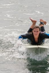 Leighton Meester - Surfing Session in Malibu 10/09/2020