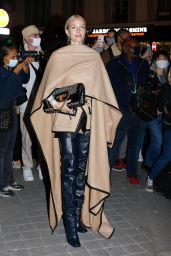 Leonie Hanne - Arriving at Balmain Show in Paris 09/30/2020