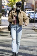 Lili Reinhart Street Style - Vancouver 10/28/2020