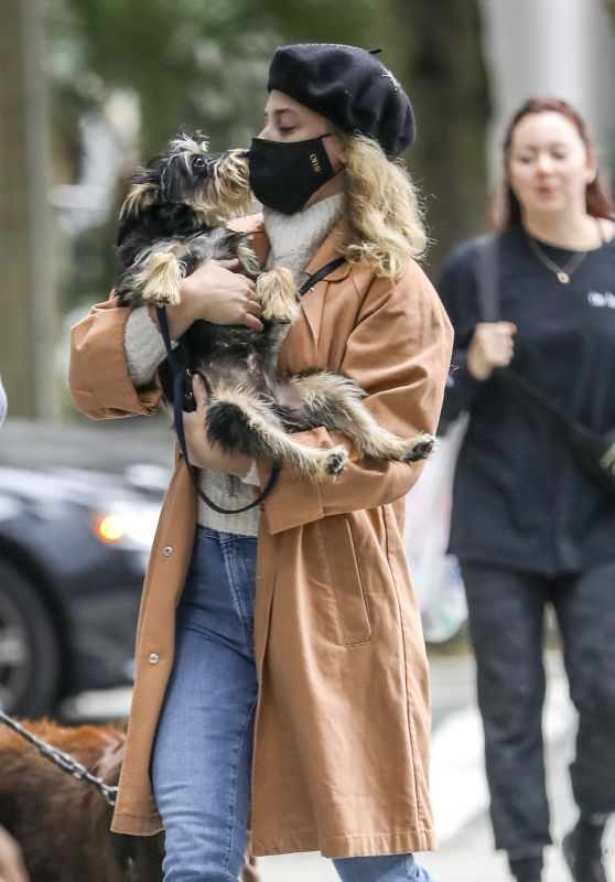 Lili Reinhart - Walks Her Dog in Vancouver 10/04/2020