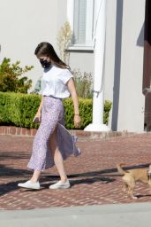 Lily Collins - Out For a Morning Stroll in Beverly Hills 10/06/2020