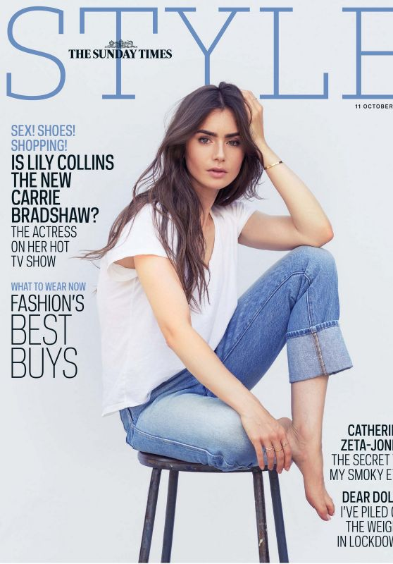 Lily Collins - Sunday Times Style 10/11/2020 Issue