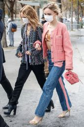 Lily-Rose Depp - Leaving the CHANEL Fashion Show in Paris 10/06/2020