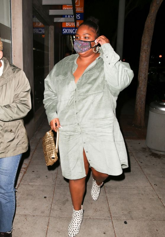 Lizzo - Out to Dinner in West Hollywood 10/24/2020