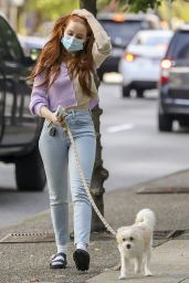Madelaine Petsch - Walking Her Dog Out in Vancouver 10/02/2020