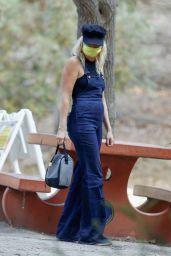 Malin Akerman at Griffith Park in LA 10/08/2020