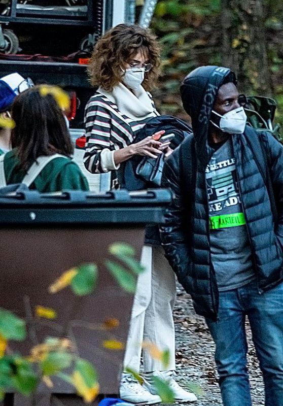"Maya Hawke and Natalia Dyer - ""Stranger Things"" Season 4 FIlming in in Atlanta 10/27/2020"