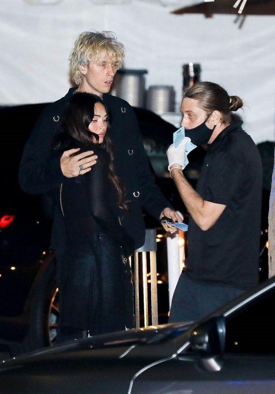 Megan Fox and Machine Gun Kelly at Mastro in LA 10/11/2020