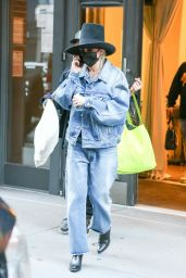 Miley Cyrus in a Double Denim - NYC 10/02/2020