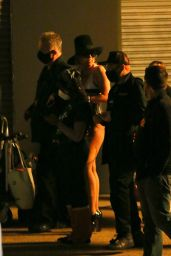 Miley Cyrus - Leaving Her Video Shoot in Brooklyn 10/01/2020