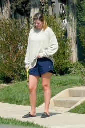Mischa Barton - Takes Her Dog for a Walk in Los Angeles 10/04/2020
