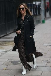 Myleene Klass in Animal Print Dress - London 10/30/2020