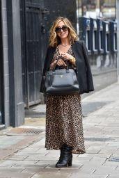 Myleene Klass in Leopard Print Midi Dress - London 10/06/2020