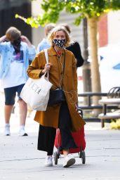 Naomi Watts in a Yellow Coat - Shopping in Tribeca 10/02/2020