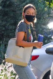 Olivia Wilde in Casual Outfit - Running Errands in LA 09/30/2020