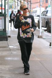 "Paris Hilton Wearing a ""Babe"" Sweater - NYC 10/28/2020"