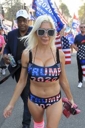 """Phoebe Price - Meets Angelique """"Frenchy"""" Morgan at the Trump Rally in Beverly Hills 10/03/2020"""