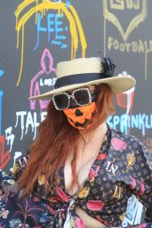 Phoebe Price - Shows Off Her Halloween Face Mask 10/08/2020
