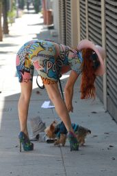 Phoebe Price - Walking Her Dog in LA 10/16/2020