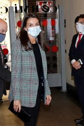 Queen Letizia - Meeting With the Spanish Committee of Representatives of People With Disabilities in Madrid 10/27/2020