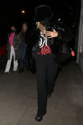 Rita Ora Night Out Style - Taqueria Mexican Restaurant in Notting Hill 10/03/2020